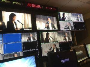 NYテレビ局のモニター