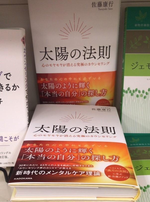 佐藤康行先生の大傑作! 書籍『太陽の法則』